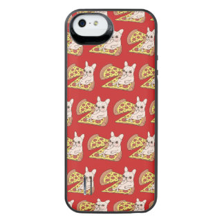 Cream Frenchie invites you to her pizza party iPhone SE/5/5s Battery Case