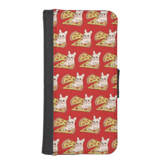 Cream Frenchie invites you to her pizza party iPhone SE/5/5s Wallet Case