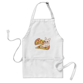 Cream Frenchie invites you to her pizza party Standard Apron