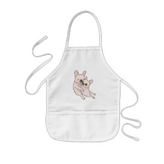 Cream Frenchie tells her you mother she loves her Kids Apron