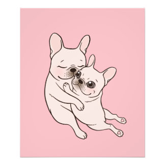 Cream Frenchie tells her you mother she loves her Photographic Print