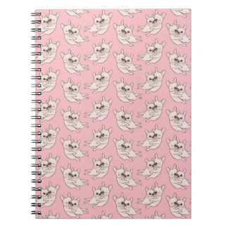 Cream Frenchie tells her you mother she loves her Spiral Notebook