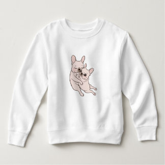 Cream Frenchie tells her you mother she loves her Sweatshirt