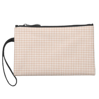 Cream-Gingham-Classic-Sueded & Multi Bag's Suede Wristlet