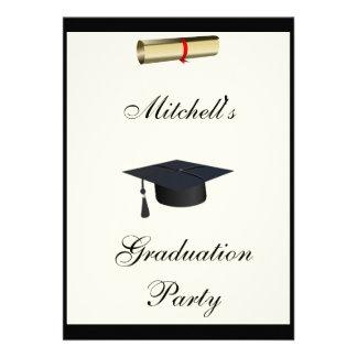 Cream Graduation Party Formal Invitation Custom Invitation