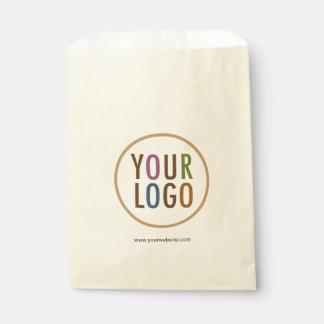 Cream Ivory Ecru Favor Bags Custom Logo Branded