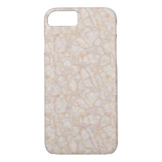 Cream marble print iphone case