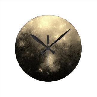 Cream Marble Round Clock