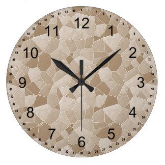 Cream Mosaic abstract Wall Clock