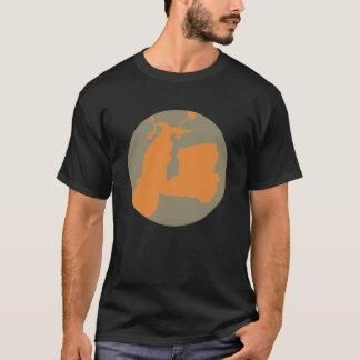 CREAM/ORANGE SCOOTER CIRCLE T-Shirt