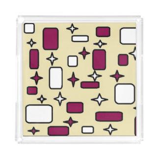 cream pattern perfume tray