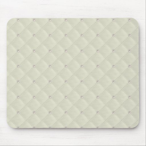 Cream Pearl Stud Quilted Mousepad