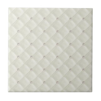 Cream Pearl Stud Quilted Tiles
