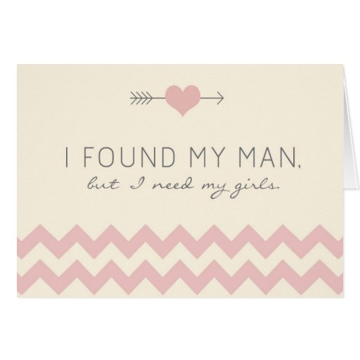 Cream & Pink Chevron Maid of Honor Card