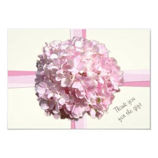 Cream Pink Hydrangea Flat Thank You Notes 9 Cm X 13 Cm Invitation Card
