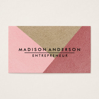 Cream Red & Pink Modern Finance Consultant Business Card