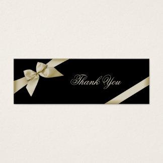 Cream Ribbon Thank You Card
