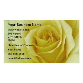Cream Rose and meaning Business Cards