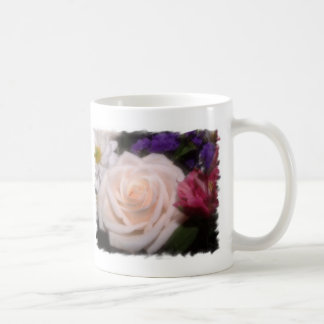 Cream Rose Basic White Mug
