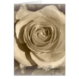 Cream Rose Forever and Always Greeting Card