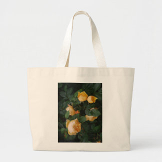 cream rose large tote bag