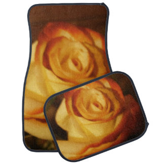 Cream Rose Photograph Floor Mat
