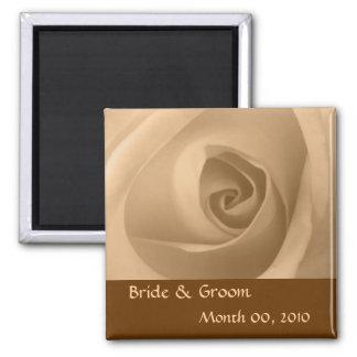 Cream Rose Square Magnet
