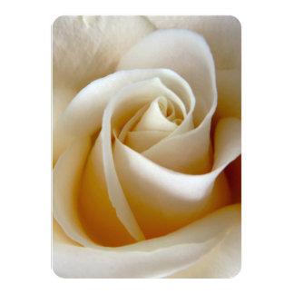 Cream Rose Wedding Photo 11 Cm X 16 Cm Invitation Card
