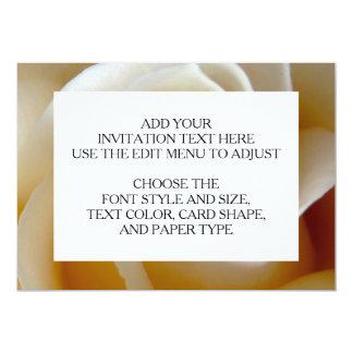 Cream Rose Wedding Photo 13 Cm X 18 Cm Invitation Card