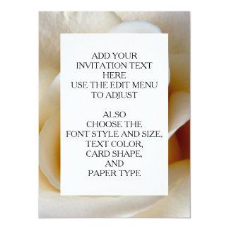 Cream Rose Wedding Photo 14 Cm X 19 Cm Invitation Card