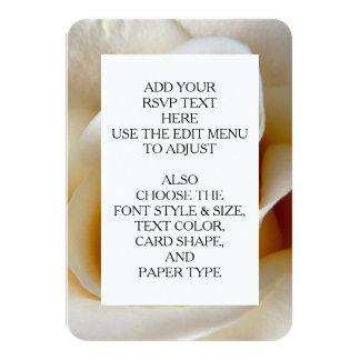 Cream Rose Wedding Photo 9 Cm X 13 Cm Invitation Card