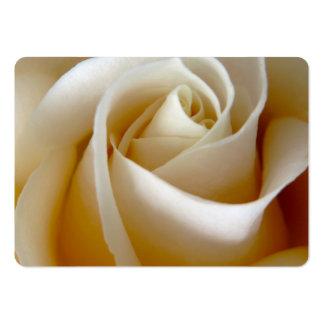Cream Rose Wedding Photo Business Cards