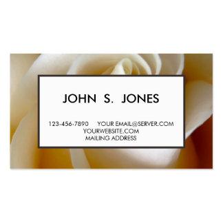 Cream Rose Wedding Photo Business Card Templates