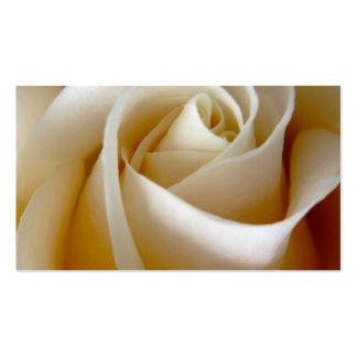 Cream Rose Wedding Photo Business Card