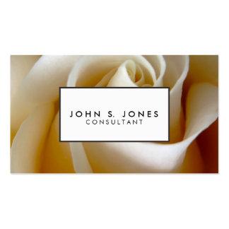 Cream Rose Wedding Photo Business Card Template