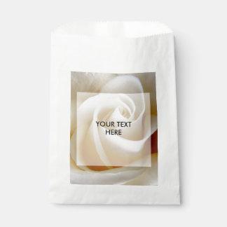 Cream Rose Wedding Photo Favour Bags