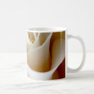 Cream Rose Wedding Photo Coffee Mugs