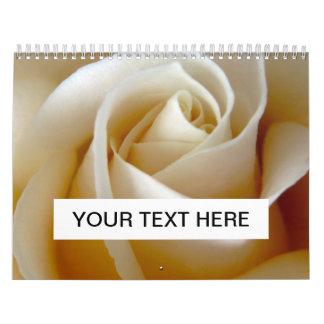 Cream Rose Wedding Photo Calendar