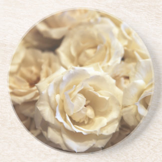 Cream Roses Beverage Coaster