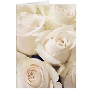 Cream Roses Card