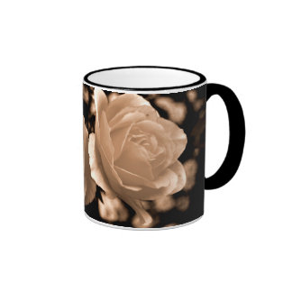 Cream roses coffee mug