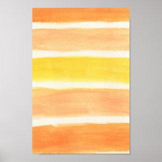 Cream Sickle Stripes Art Print