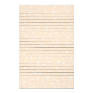 Cream Snowball Lined Stationery