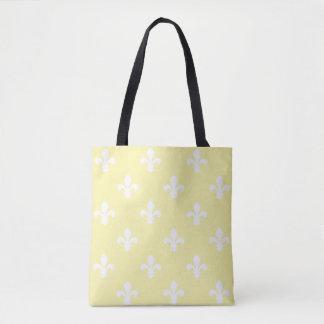 Cream Southern Cottage Fleur de Lys Tote Bag