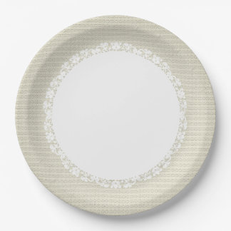 Cream-Stylish-Fabric-Pattern_Lace_Everyday_M-L Paper Plate