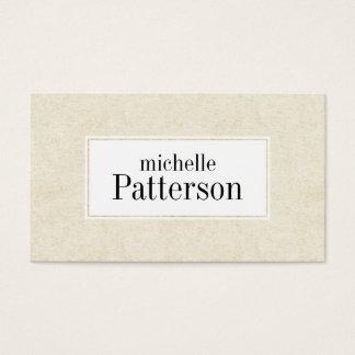 Cream Suede Look Texture Modern Business Card