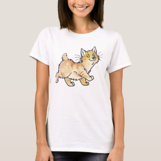 Cream Tabby Manx Kitty T-Shirt