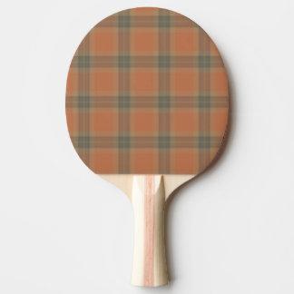 Cream Tartan Ping Pong Paddle