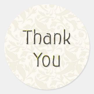Cream Thank You Sticker-TY02