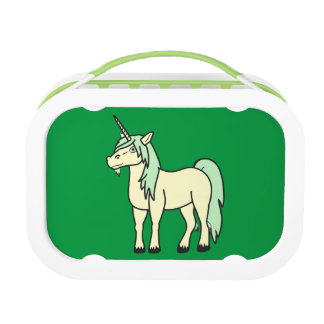 Cream Unicorn with Light Green Mane Lunchboxes